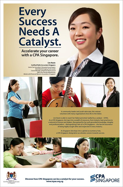ICPAS brand campaign featuring Ms Lim Kexin