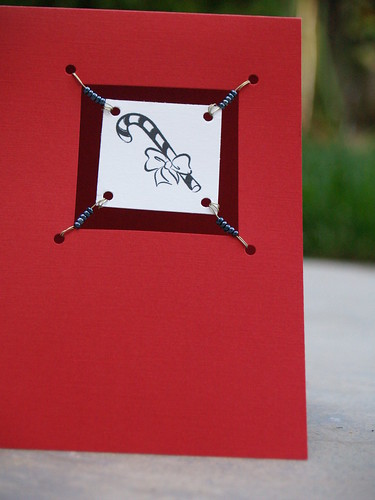 Candy Cane Suspended Card