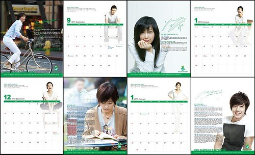Kim Hyun Joong 2011 Eco Calendar