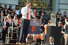 gavin newsom (corvair) Tags: sf street city car st word hall tim ross downtown baseball market bruce champs parade chevy 1957 series trophy giants buster players cody champions finest 415 2010 ws posey friscos lincecum bochy worldseriespics2010world