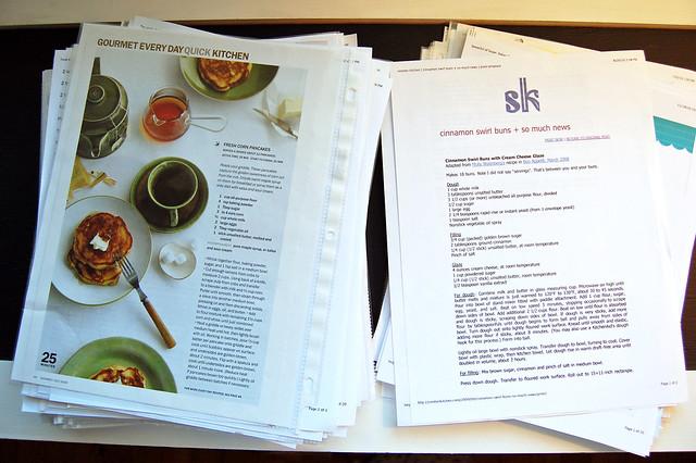 recipe binders