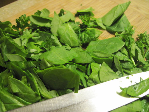 Spinach, Parsley