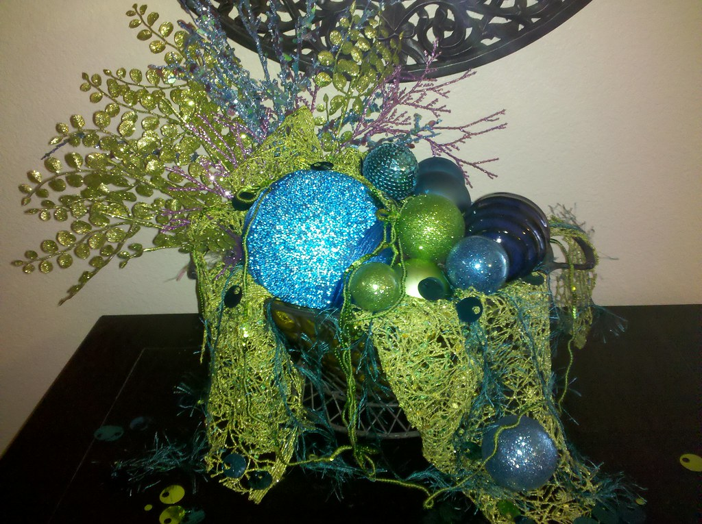 Under the Sea Christmas  entry table decoration
