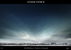 shell (Michael Malthe Photography) Tags: blue winter chimney sky industry clouds denmark industrial tank diesel shell oil petrol danmark refinery industria hdr fredericia hdri industri gasolin