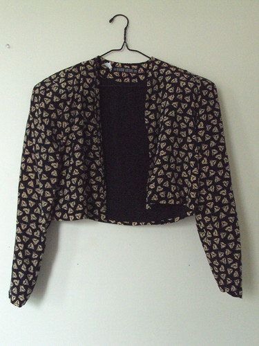 Patterned Silk Cropped Coat