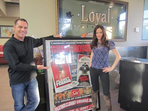 Bob Bekian and Rose McGowan at the new Loyal Studios in Burbank