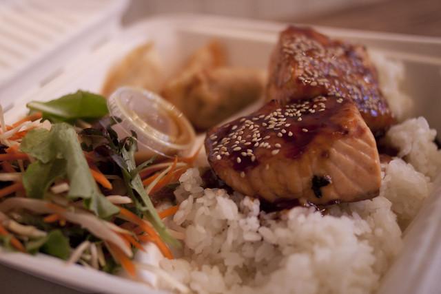Glaze Teriyaki salmon