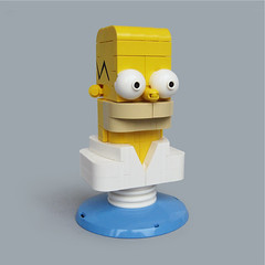 Lego Homer Simpson mini bust (Fredoichi) Tags: sculpture art lego character animation movies thesimpsons homersimpson rendition fredoichi