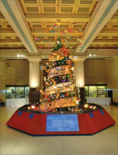 mareri: Kusudama Chirstmas Origami Ornaments