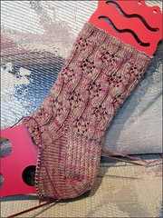 Mochaberry Bramble socks, as of 12/8