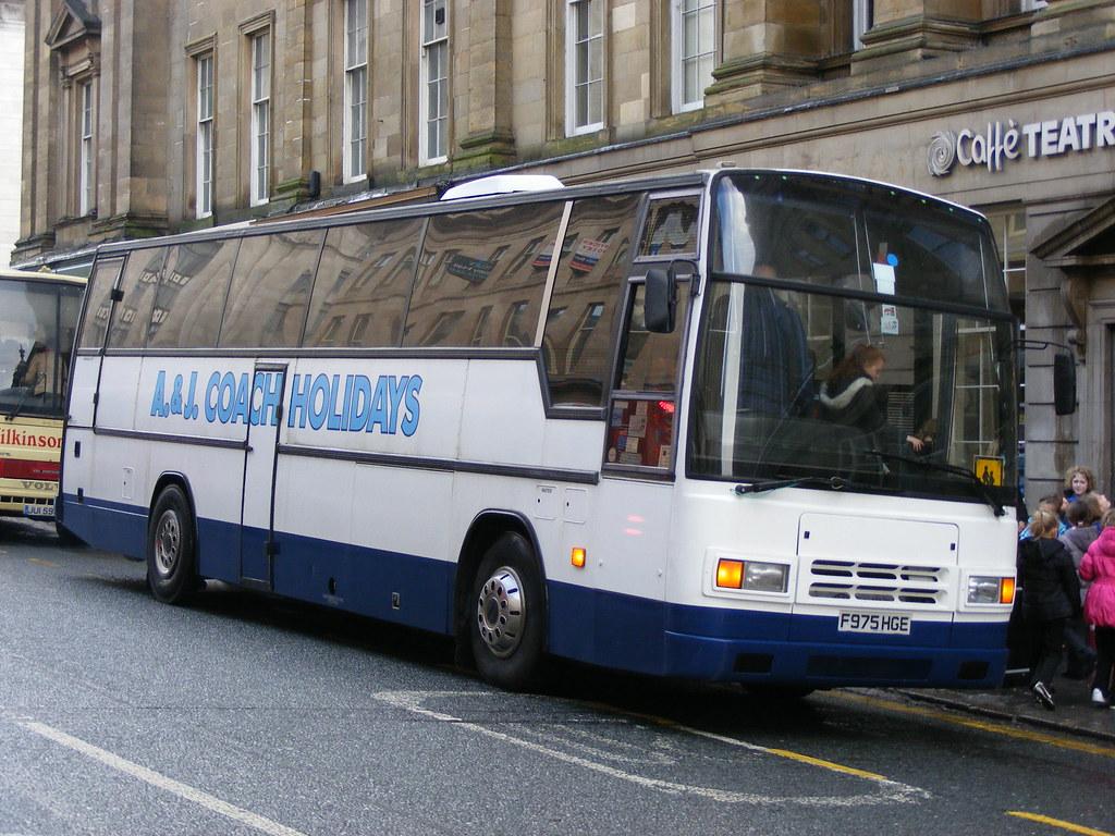 A&J Coach Holidays: F975HGE Volvo B10M/Plaxton