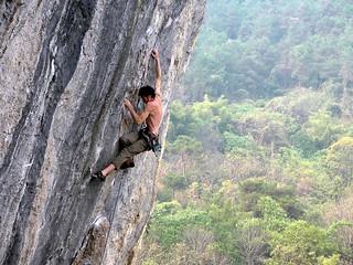 rock climbing @ lei pi shan, yangshuo china