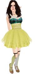 Yellow (dizzy.sparrow) Tags: fashion blog avatar sl secondlife dizzy faerie fae dizzysparrow 52weeksofcolor