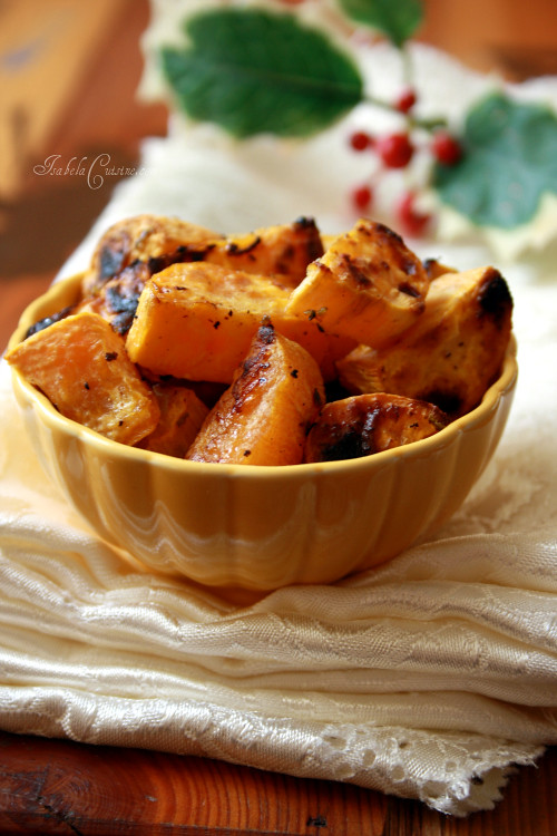 Roasted Sweet Potatoes with Ginger and Lime