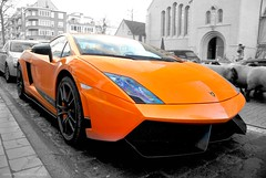 Superleggera. (Jurriaan Vogel) Tags: auto bw italy orange cars sc car photography intense italian nikon europa europe italia sheep belgium belgique bright very 4 belgi fast super exotic knokke lp carbon lamborghini luxury exclusive supercar v8 v10 vogel 52 gallardo 2010 bolognese v12 18105 lambo d60 lightweight heist gally jurriaan superleggera santagata 570 knokkeheist balboni leggera 52l worldcars lp560 lp5604 18105vr 570bhp lp5704