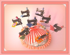 more sewing machines more and more (Pinks & Needles (used to be Gigi & Big Red)) Tags: sculpture thread pins clay pincushion etsy sewingmachine sculpted vintageinspired vintagesewingmachine pleasedonotcopy gigiminor pinksandneedles pintoppers pintopper pinksneedles