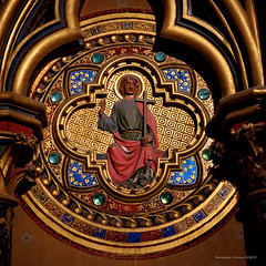 Sainte Chapelle from Paris-60 (christian_jacquet) Tags: paris france church louis king catholic religion gothic 9 stainedglass saintlouis blanche gothique chapelle saintechapelle roi 1242 architecte vitraux moyenage castille catholique architec 1248 pierredemontreuil royaute middleadge windowscarlzeiss