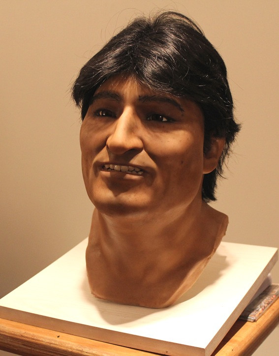 head of Evo Morales in Silicone Argentina