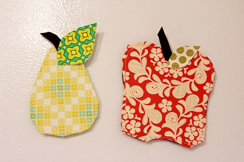 Apple Pear Magnets