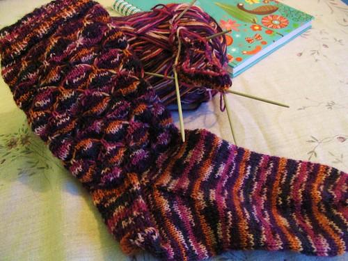 Flutterby socks WIP