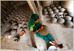 The creative corner [..Chuadanga, Bangladesh..] (Catch the dream) Tags: woman art lady mud crafts traditionalart potter pots clay pottery tradition bangladesh motifs contemplation artsandcrafts cottageindustry chuadanga earthenpots smallindustry alamdanga potterlady craftsofclay earthenpottery potterwoman potteryofbangladesh artisticmotifs gettyimagesbangladeshq2