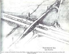 19th Avenue (State Route 92) interchange (1940) (Eric Fischer) Tags: plan us101 bayshorefreeway unitedstateshighway101