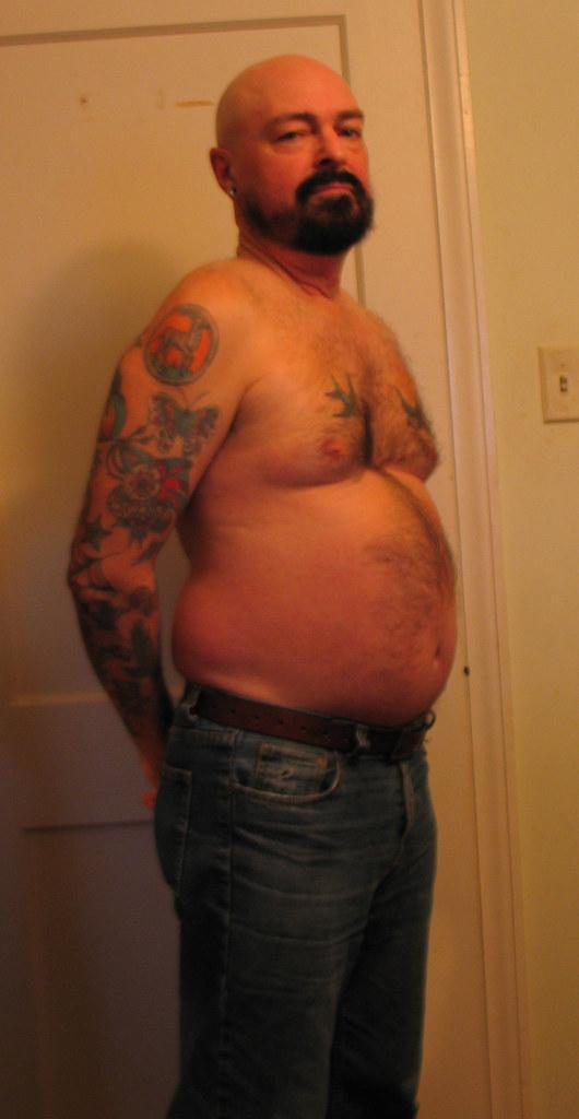 cute shirtless fat chubby men