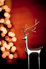 """The stockings were hung by the reindeer with care..."" (CarolynsHope) Tags: christmas red orange holiday festive reindeer shiny warm shine bokeh warmth deer gettyholidays2010"