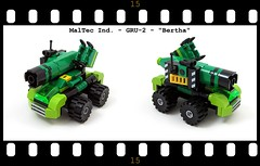 "MalTec Ind. - GRU-2 - ""Bertha"" (Moctagon Jones) Tags: art gun lego kaboom micro bertha bfg moc microscale groundassaultvehicle"