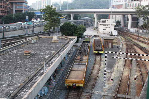 Rail flat wagons at Hung Hom yard