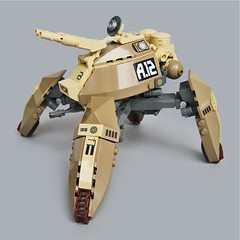 Jiinusu A12 - Assault Type (Fredoichi) Tags: tank lego space military walker micro mecha mech multiped microscale fredoichi
