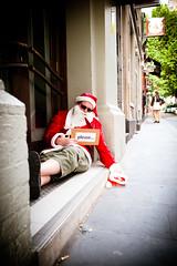 Please Help Santa (bovinemagnet) Tags: santa street red portrait bar drunk pub nikon please candid poor australia melbourne victoria event cbd begging 2010 lightroom santapubcrawl santasuit tamron2875mmf28 d700
