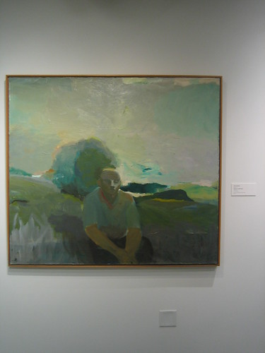 Figure in Landscape, c. 1957, Elmer Bischoff, Oakland Museum of California _ 9489
