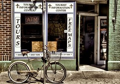 Ghost Tours (Ken Yuel Photography) Tags: tourism louisiana neworleans unitedstatesofamerica frenchquarter vintagebicycle guidedtours digitalagent kenyuel montereybicycle curtisyuelis20yrsoldtoday