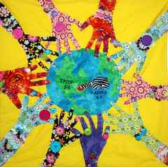 By Girl Scout Troop #315 from Hazard, KY  Dream Theme - Community (International Fiber Collaborative, Inc.) Tags: newyork london art home water rain kids stars washington community war peace anniversary kentucky space dream conservation nasa explore health scouts express reach olympics breastcancer global discover sochi saturnvrocket presidentobama internationalfibercollaborative thedreamrocket