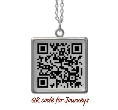 QR code for Journeys - necklace created on Zazzle.com
