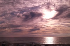 Hot Summer Evening (farmspeedracer) Tags: blue sunset red sea summer sky cloud sun beach colors clouds germany grey evening sand heaven purple august baltic sylt 2010 chillout westerland