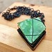 Green Calcite and Antiqued Copper Necklace