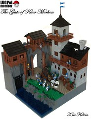 The Gate of Kaer Morhen (Kris_Kelvin) Tags: black gate war lego citadel fortress falcons