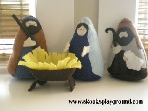 Felt Nativity - So Far . . .