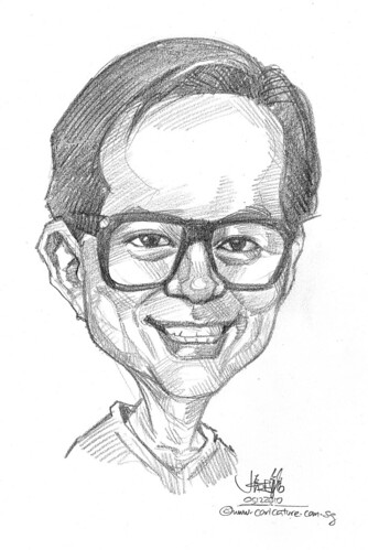 caricature in pencil 051210