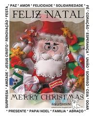 Feliz Natal para todos!!!  Merry Christmas for all!!! (erika.tricroche) Tags: natal star estrela noel guirlanda feliznatal feltro merrychristmas doce tutorial pap molde 2010 ekt erikatricroche papainoeldefeltro gingerbrand