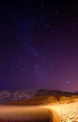 Loch Ness under the stars (roodubh) Tags: snow beach night stars landscape lochness dores doresonlochness