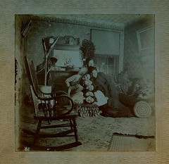 The 'Shook' family sisters playing a silly  reindeer  game (Kingkongphoto & www.celebrity-photos.com) Tags: old city school girls portrait favorite woman man silly cute history love girl century america vintage studio children fun europe theater photographer child play classroom image time antique fineart rustic 19thcentury 1800s fame stack livingroom human heads actress actor americana cdv cartedevisite drama past rare parlor learn hassock starsandstripes smalltown stacked relic oldglory occupation 100years longtimeago cabinetphoto
