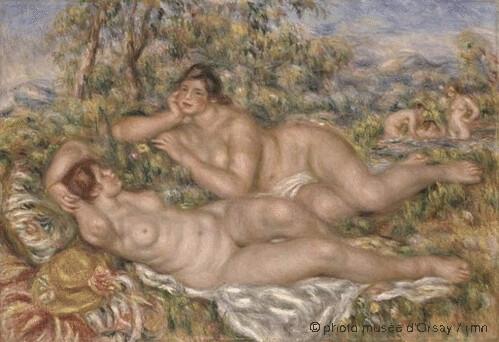 Les baigneuses, Pierre Auguste Renoir, 1918-1919