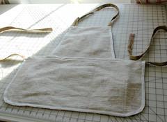Gardening apron-wrong side (kizilod2) Tags: garden gardening sewing apron biastape