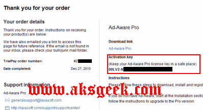 Ad-Aware Pro License Free key