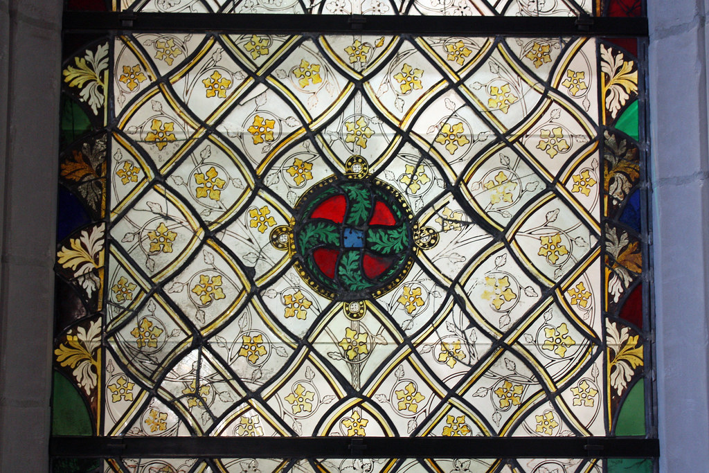 The Early Gothic Room:  Window with Gisaille Decorations: Panel
