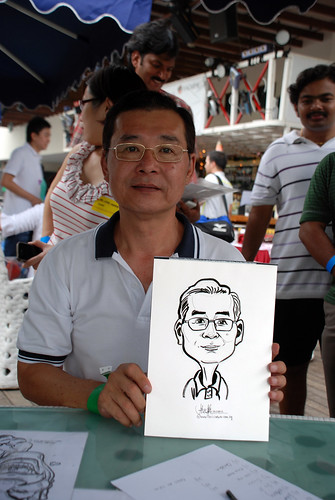 Caricature live sketching for VISA Beach Party 2010 -15