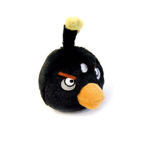Black - Angry Bird Plush Toy 愤怒的小鸟毛绒玩偶